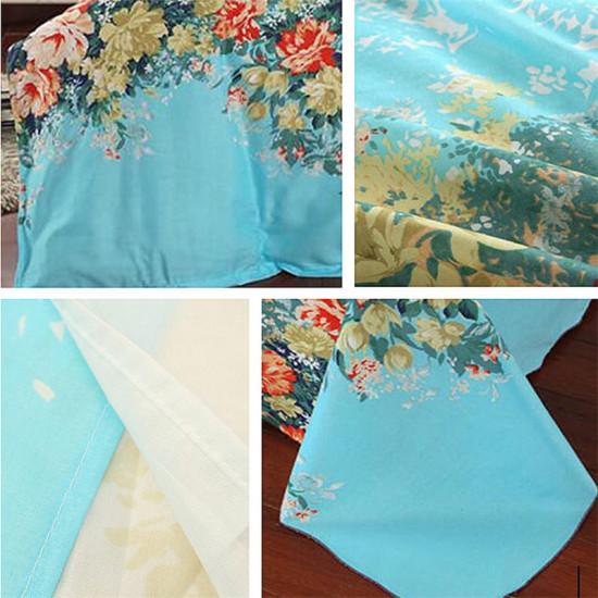 4 szt. Niebieskie pojedyncze podwójne łóżko typu king size Zestaw poszewek na kołdrę Kołdra Zestawy pościeli