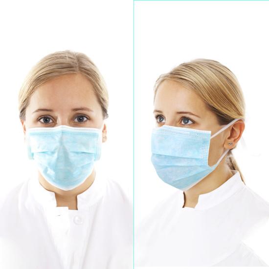50 szt. Jednorazowe maski na twarz Usta Twarzy 3-warstwowa maska respiratora Odporna na kurz ochrona osobista