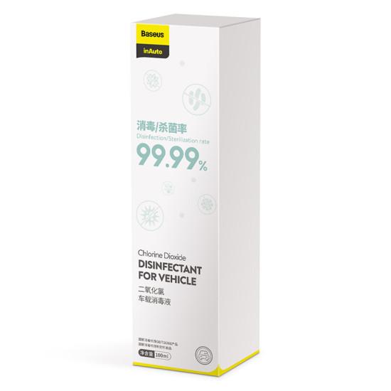 Baseus 100 ml Dezynfekcja wirusów Antybakteryjny środek dezynfekcyjny Bezalkoholowy Dwutlenek chloru Niepalny środek dezynfekujący Sterylizator do samochodu Smart Phone Door Laptop