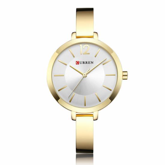 CURREN 9012 Aluminiowa obudowa zegarka damskiego Zegarek kwarcowy