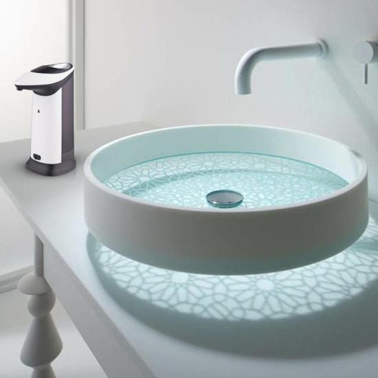Dozownik mydła o pojemności 420 ml z automatyczną indukcją IR Pojemnik wykrywający ciało z oświetleniem dźwiękowym LED