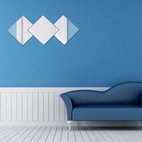 Honana BX-231 16 Sztuk Łazienka Zdejmowane samoprzylepne Płytki mozaikowe Lustro Naklejki ścienne Wystrój domu