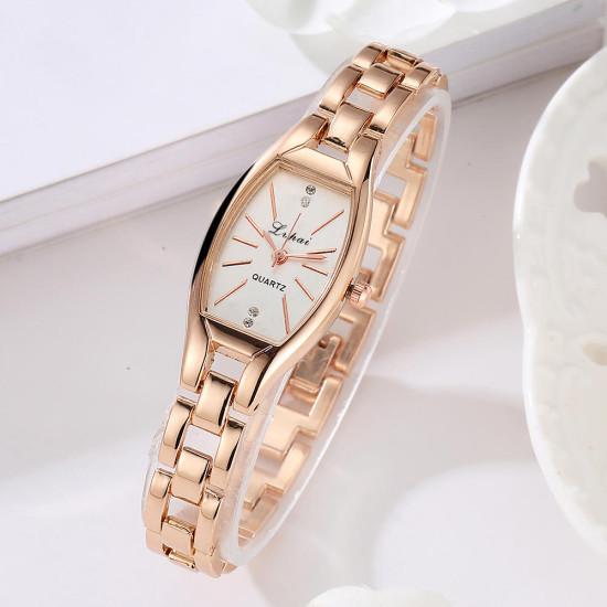 LVPAI LP104 Unikalny styl Eleganckie kobiety bransoletka Zegarek ze stali kwarcowy zegarek