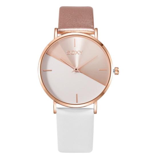 SOXY 0165 Damski zegarek na rękę z dużą tarczą. Kreatywny modny zegarek kwarcowy