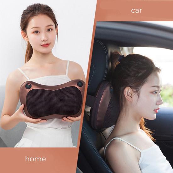 Elektryczna poduszka do masażu 16 głów Poduszka lędźwiowa na szyję, poduszka do kolan Shiatsu