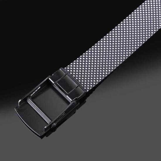 120CM Mens Casual Nylon Dots Smooth Buckle Belt Belt