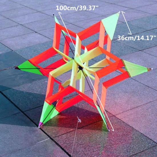 3D Colorful Flower Kite Single Line Sporty outdoorowe Zabawki Lekki wiatr latający dla dzieci