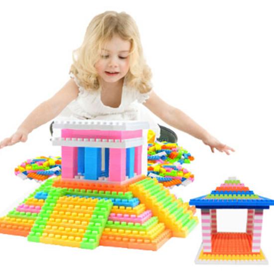 96 sztuk dla dzieci plastikowe puzzle edukacyjne klocki zabawki dla dzieci prezent