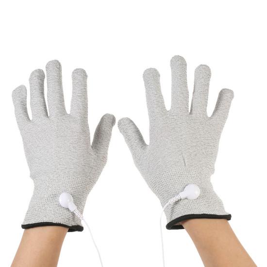 Kardiologiczne maski przewodzące 2PCS Elektroterapia Rękawice elektrolizerowe S / M / L