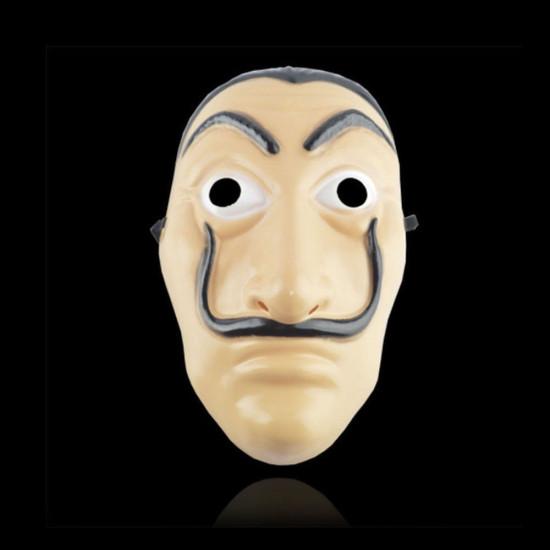 Maska na twarz La Casa De Papel Maska Salvador Dali Mascara Masque Money Heist Cosplay Rekwizyty Zabawka